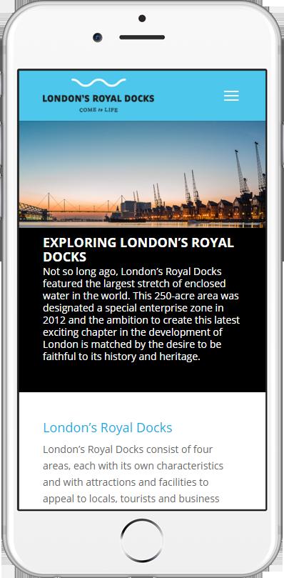 London's Royal Docks website