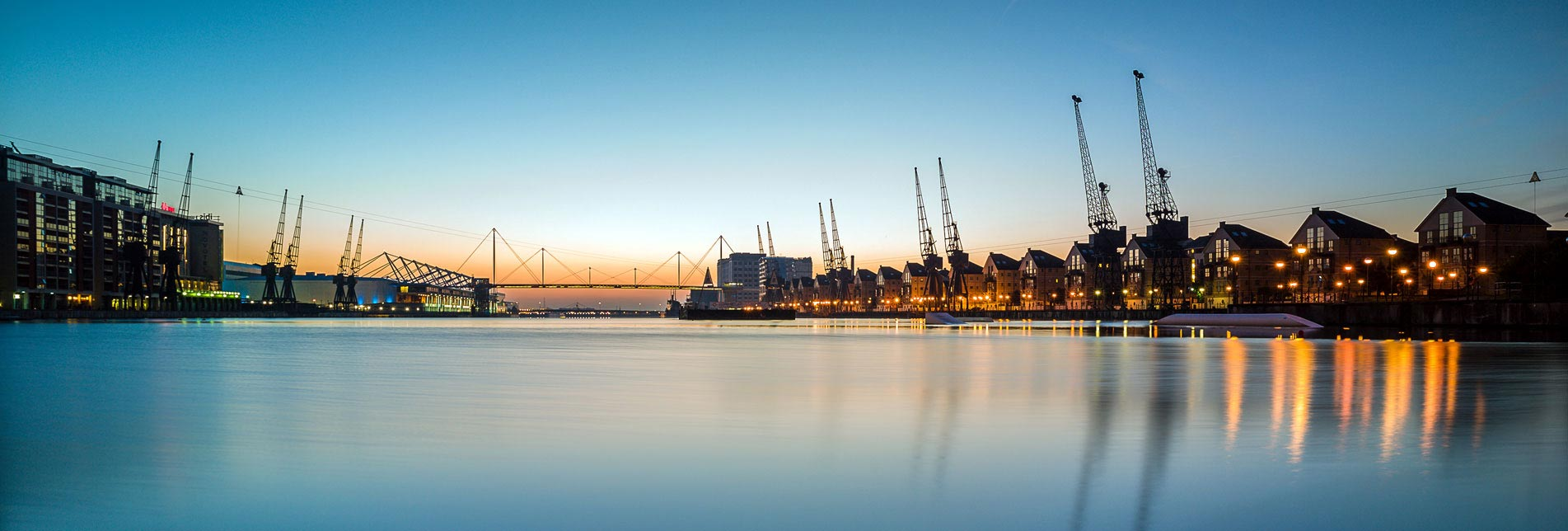 London's Royal Docks background
