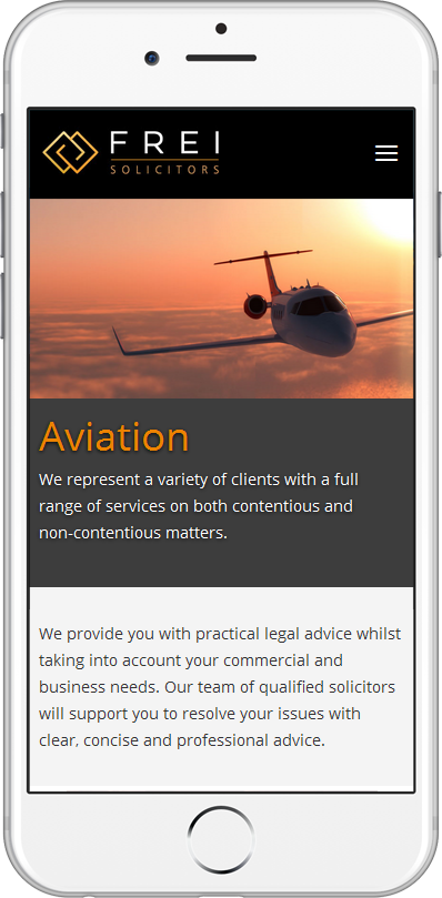 Frei Solicitors web site