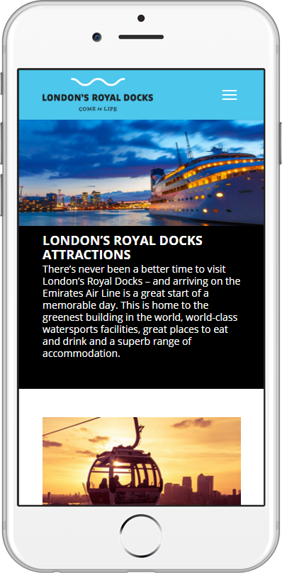 London's Royal Docks website