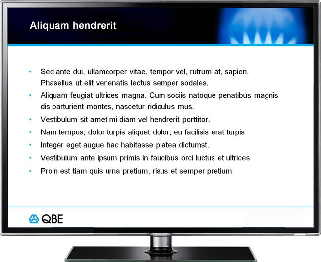 QBE presentation template