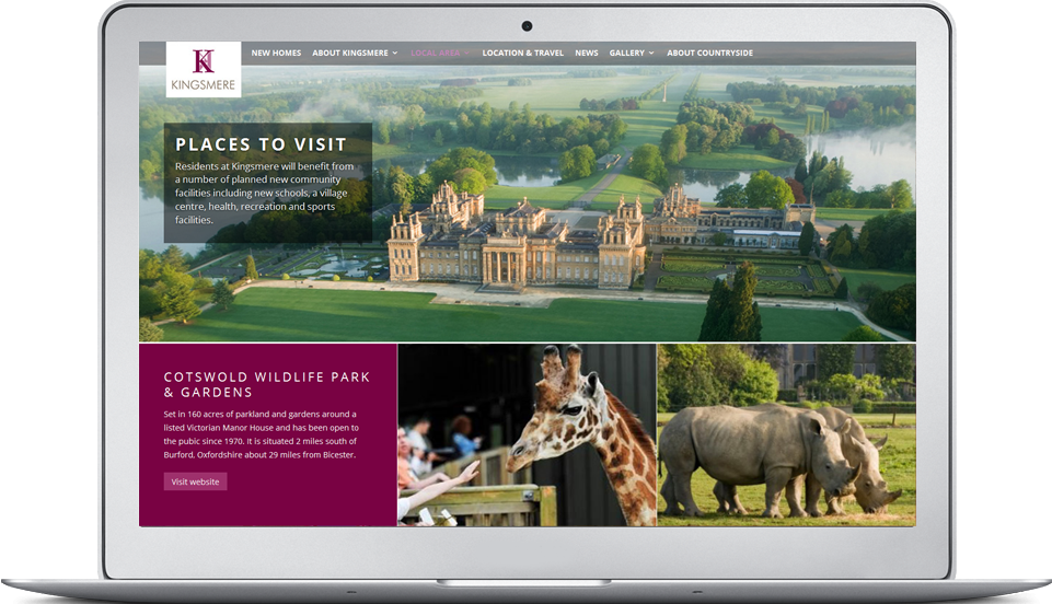 Kingsmere Bicester website