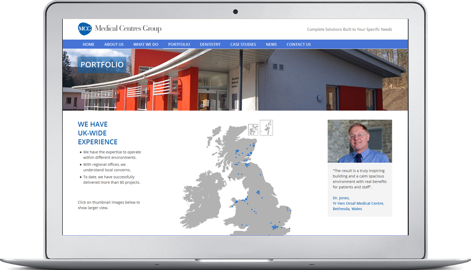 Medical Centre Development web site