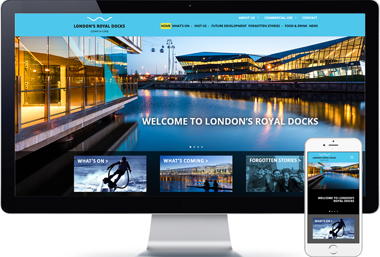 Londons Royal Docks website